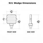RV LED 250 Lumen Cool White Wedge Base