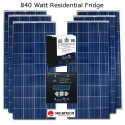 840 Watt RV Solar Residential Fridge