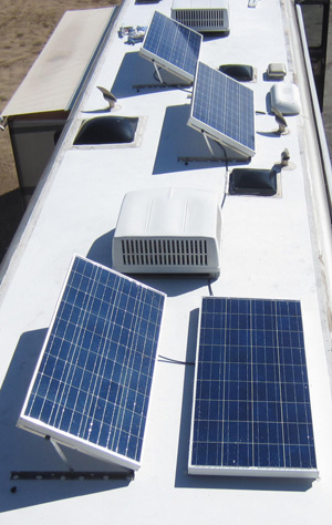 560 Watt with Dual Tilt solar panel mounts