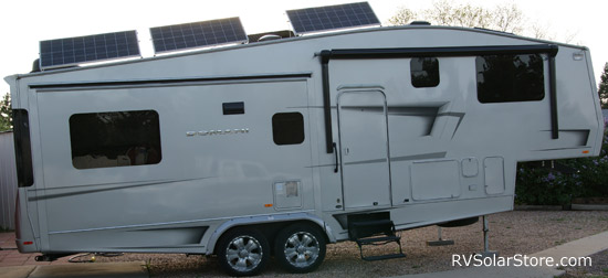 Domani 5th Wheel with Tilting Solar Panels